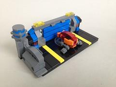 Hovership powering up... (TenorPenny) Tags: lego microscale microspace hangar dock