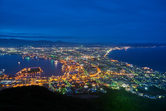 Hakodate Nightscape (yiming1218) Tags:  blue hakodate      michelin 3 star three bay port mountain    sea magic hour moment  green guide japan hokkaido sony fe 2470mm 2470 gm f28 g master sel2470gm ilce7rm2 a7r2 a7rm2 a7rii nightscape nightview cityscape landscape   city shi  million