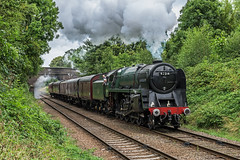 Premiership 9F (4486Merlin) Tags: 92214 brstd9f2100 bridge buildings england europe exbr greatcentralrailway heritagerailways leicestercity midlands railways steam transport unitedkingdom charnwoodwater leicestershire gbr 50thanniversaryclosureoftheline
