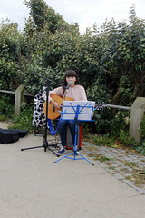 Tess Busker (andy michael2012) Tags: busker tess guitar songs playimng music concert boardmasters playing fistral beach newquay