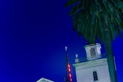 uss (pbo31) Tags: oakland california eastbay alamedacounty nikon d810 color august 2016 summer boury pbo31 night dark eastoakland bluehour religion church faith christian blue neon sign