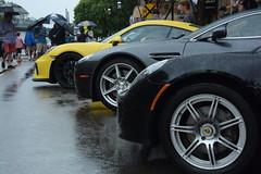 Exotics in the rain. (jd_vette) Tags: gt4 cayman porsche vantage v8 martin aston elise lotus wyoming exotic wheels wine ohio