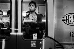 (Giorgos-S) Tags: athens hellas streetphotography subway blackandwhite fuji x100 urban