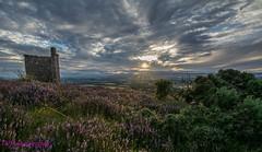 Lyndoch Hill sundown (jilliannelson17) Tags: sunset heather hills perth scotland tower ruin