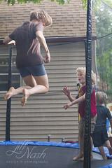 262/366 (grilljam) Tags: summer september2016 soakinginthelastfewdays trampoline shenanigans jump me seamus 4yrs ewan 7yrs 366days