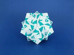 Rumba Sonobe (masha_losk) Tags: kusudama  origami paper paperfolding modularorigami unitorigami    foliage folded symmetry squares origamiwork origamiart