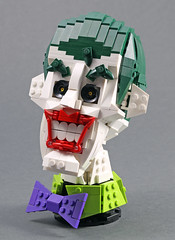 The Joker (MaverickDengo) Tags: joker dc batman villian comic lego moc bust haha smile ldd digital designer