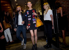After The Blonds (The Urban Vogue) Tags: asian bladefoto blade branstrom bladebranstrom black blog boots theblonds chic candid chelsea downtown fashion fashionweek milkgallery newyork nyc nyfw street streetstyle style streetfashion streetphotography theurbanvogue urban vogue woman model motosport