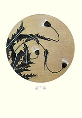 Thistle (Japanese Flower and Bird Art) Tags: flower thistle cirsium asteracee jakuchu ito ukiyo woodblock picture book japan japanese art readercollection