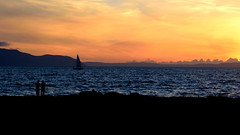 Sail on by (eyesomepics) Tags: sail sailing boat marine sea water landscape scotland scottish portencross sunset scenic