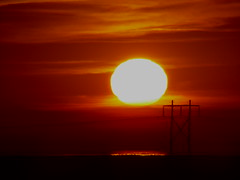 Salton sea dawn (Praxis Transmutation) Tags: saltonsea space dawn orange red underexposed sandiego california clouds sun