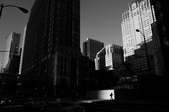 (Paul is Moody) Tags: minimal ricoh street silhouette chicago strideby urban cityscape mono bnw blackandwhite figure shadows city