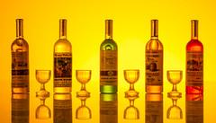 Miniature Bottles (Albert N Lewis) Tags: bottle whiskey minature brilliant great fantastic macro orange excellent macromondays handlewithcare