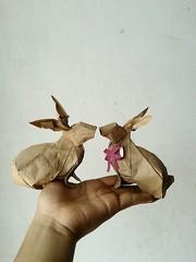 Rabbit - Nguyen hung cuong (javier vivanco origami) Tags: origami ica peru javier vivanco rabbit nguyen hung cuong