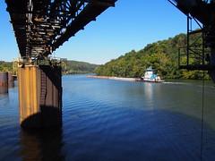 towboat Dave Kreutzer going past Humphrey mine loadout (44) (photography_isn't_terrorism) Tags: towboat monongahela monongahelariver towboattow boat barges river