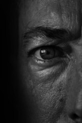 Getting old (Jose Quental) Tags: getting old wrinkles monochrome blackandwhite face eye