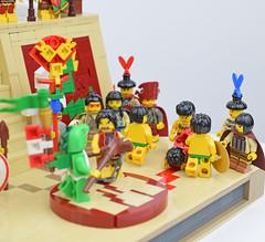 Spectators (Cuahchic) Tags: lego aztecs temple sacrifice duel foitsop minifig mesoamerica priest