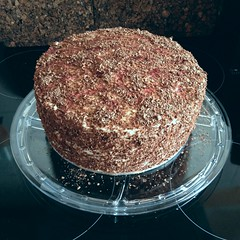 Almost done (varrqnuht) Tags: black cake forest torte gteau kirschtorte uploaded:by=flickrmobile flickriosapp:filter=nofilter bakehob schwartzwlder cakehob