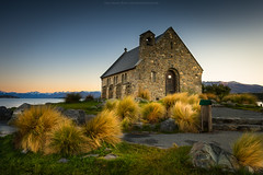 tekapo (: : T O N I : :) Tags: old newzealand sky building tourism church water architecture clouds landscape shepherd canterbury historic getty laketekapo attraction tekapo