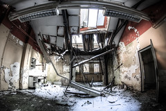 Decay (EyeC4ndy) Tags: winter chimney urban abandoned netherlands hospital exploring 8mm ziekenhuis psychiatric pz bloemendaal urbex samyang psychiatrisch