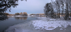 Swedish winter (DavidAndersson) Tags: winter panorama snow ice water sweden vnersborg gtalv