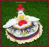 Cobre bolo!!!! (romelia.artesanatos) Tags: galinha para bolo patchwork cobre cobrir