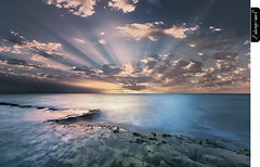 Uprising (juandiegojr) Tags: morning seascape water clouds sunrise spain rocks muse malaga uprising rayoflight juandiegojr juandiegojrcom d800e nikond800e