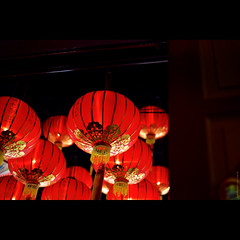 ii | raise the red lanterns ii (Chez C. - busy..) Tags: light shadow red temple 50mm doorway lanterns  nikond600 noclsinfo rejectedfromclspool afsniikkor50mmf18g