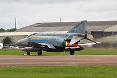 Fairford 2012 :  F-4F Phantom 38+28 (Hermen Goud) Tags: england canon germany aircraft aviation military airshow german phantom f4 fairford mcdonnell luftwaffe afterburner militair mcdonneldouglas 3828 eos40d