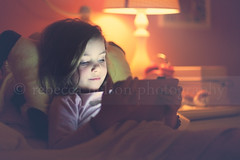 (Rebecca812) Tags: family portrait lamp girl childhood relax bed bedroom lowlight technology child candid watch read pillow tablet relcine canon5dmarkii rebecca812