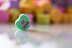 Be Mine (Painted Light Studio (hardpan photo)) Tags: holiday colors candy heart bright pentax valentine conversation february valentinesday bemine k01