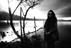 next to loch on winter day (gorbot.) Tags: portrait blackandwhite bw landscape rangefinder roberta lochrannoch leicam8 silverefex carlzeiss35mmbiogonf2zm