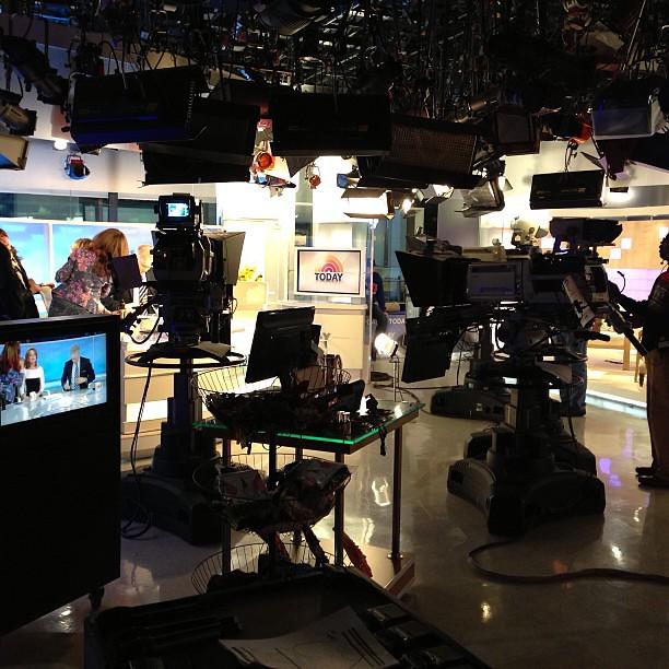 Inside @todayshow #SteveInToday cc @todayshow