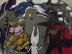 groupe de nuit aleister 236 mc1984 sold (mc1984) Tags: art pig peinture arf characters groupe toile acrylique posca mc1984 leloo aleister236 hommesdeboue