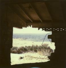 Salton Sea (Howard Clayton) Tags: abandoned film mediumformat polaroid sx70 desert joshuatree saltonsea yashicad type100