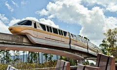 Monorail Yellow (Ray Horwath) Tags: epcot nikon disney disneyworld wdw waltdisneyworld tamron disneytransportation horwath monorails tamronlens monorailyellow d700 disneyphotos epcotsfutureworld rayhorwath disneymonorails tamron28mm300mmlens