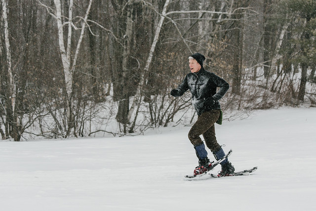 Jodi on snowshoes (ooof!)
