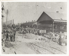 Demolishing second Sydney station at Devonshire Street end (State Records NSW) Tags: blackandwhite archives newsouthwales centralrailwaystation staterecordsnsw
