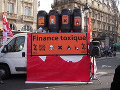 FINANCE TOXIQUE (marsupilami92) Tags: paris france frankreich 75 iledefrance greve finance manifestations attac solidaires syndicats toxique 5emearrondissement sudptt