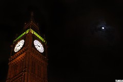 """Because the night belongs to us"" - Big Ben - London - England (TLMELO) Tags: street inglaterra bridge red england sky people panorama moon white black bus london eye clock westminster westminsterabbey rio branco thames night river u2 aquarium time bell jubilee mulher trafalgar londoneye parliament bigben bicicleta bluesky nelson games scene palace tourist preto queen vermelho buckinghampalace greenpark londres lua noite ferriswheel british years nibus riverthames tempo charingcross elisabeth 60 relgio jogos stjamesspark aqurio westminsterbridge rodagigante londonstreets themall turistas reinounido sino palaceofwestminster lordnelson olimpics parlamento unitedkingdon olmpicos tmisa jubileu"
