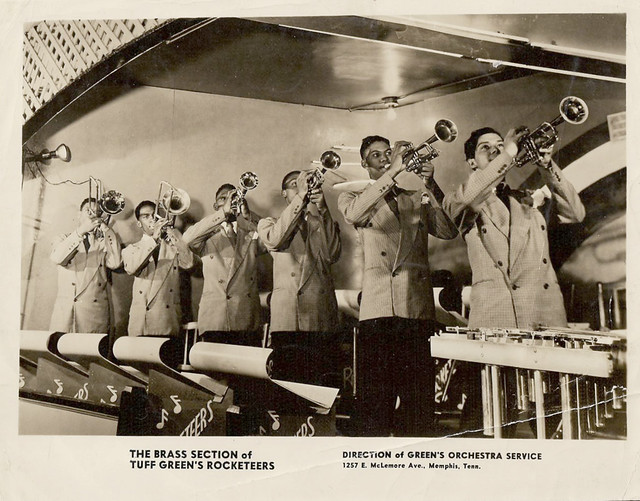 The Brass Section of Tuff Greens Rocketeers, Memphis, Tenn. - 1940s promo photo