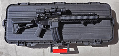 BCM AR15 (Eric Holmes) Tags: red black magazine gun arms daniel awesome badass smith case dot explore acs sw guns mp defense primary m4 m16 ar15 array magnifier bcm firearm firearms carbine bcg 3x wesson midlength bravocompany aimpoint magpul midwestindustries handstop