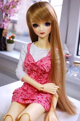 New outfit for SD girls handmade by me ♥ (Miema) Tags: pink floral fashion shop ball doll dress rosa mami clothes online bjd volks abjd dollhouse creamy jointed sdgr sd13 sd16 miema sdgrg mamipinkeskleidsd16