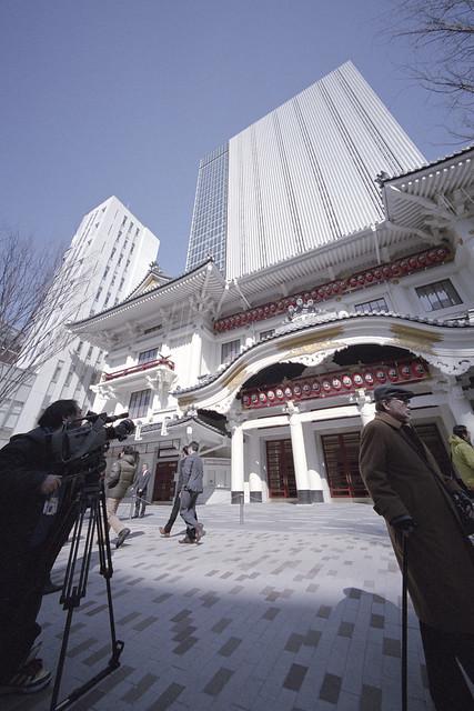 歌舞伎座 第5期 竣工式取材中 1