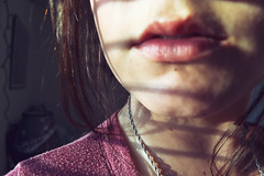 you don't need me or anyone else (newsetofwings) Tags: light sun girl hair necklace jewelry lips