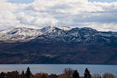 Okanagan in March 2 (LongInt57) Tags: blue trees sky cloud white mountain lake snow canada mountains tree green nature water clouds landscape spring bc okanagan hill lakes scenic hills valley