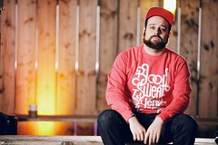 AnyForty  Spring/Summer 2013 Lookbook (Rick Nunn) Tags: wedding red portrait london coffee bench beard clothing mix hands heather details photojournalism rick peak jeans cap shoreditch denim rim brand nunn canonef70200mmf28lis strobist snapback thelastskeptik