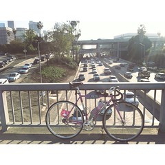 (jaxmeowmeow) Tags: cars losangeles traffic freeway gloomybear fixie fixedgear trackbike torelli