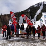 Red Mountain U16 Provincials - Women's GS Podium (day 1) PHOTO CREDIT: Gordie Bowles