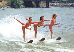 "Water Skiing ""The Windsor sisters"""